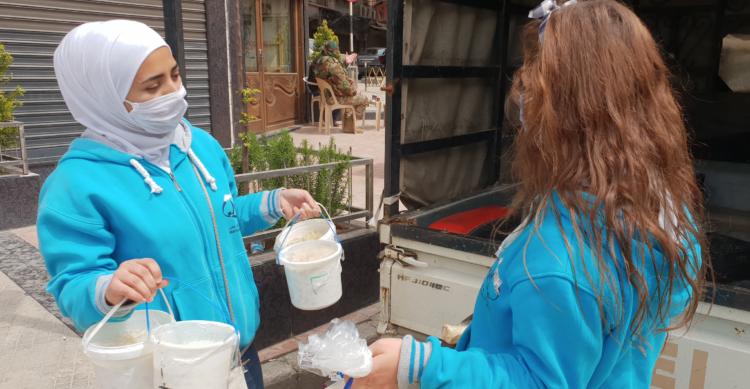 Los Maristas Azules reparten comida a las personas más vulnerables de Alepo