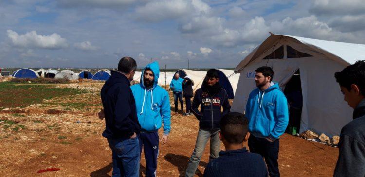 Visitamos un campo de personas refugiadas en Siria
