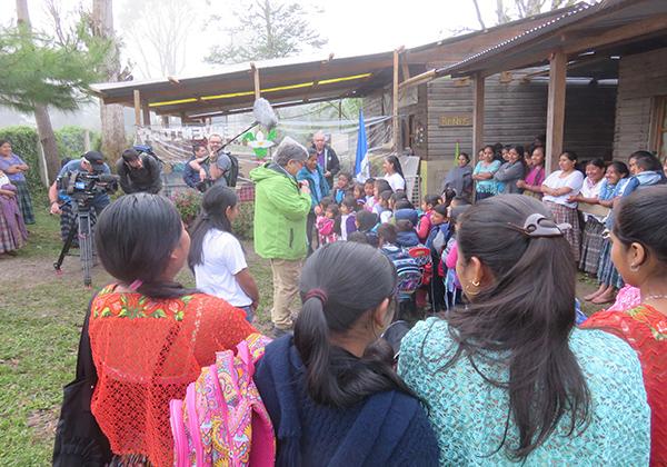 SED y TVE visitan la ONG Futuro Vivo en Samac, Guatemala